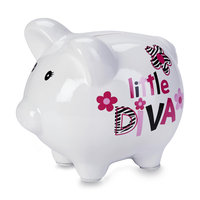 Tender Kisses Piggy Bank Little Diva - Rose Art
