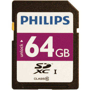 Philips Fm64sd55b/27 Sdxc[tm] Card [64GB, Class 10]