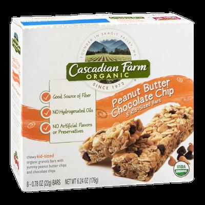 Cascadian Farm Organic Peanut Butter Chocolate Chip Kid-Sized Bars - 8 CT