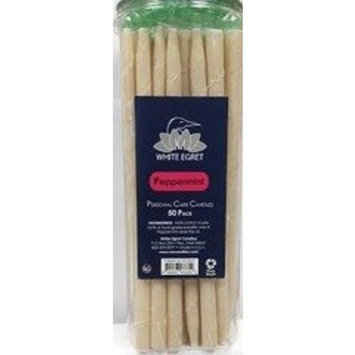 White Egret Earomatherapy White Egret Candles, Peppermint, 50 candles