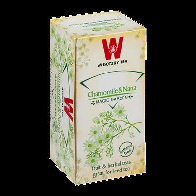 Wissotzky Tea Bags Magic Garden Chamomile & Nana - 20 CT