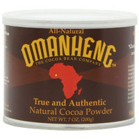 Omanhene All Natural, Single Origin Cocoa Powder, non-alkalized, 7 Ounce Canister (Pack of 4)