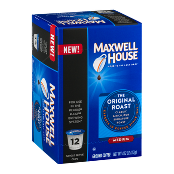 Maxwell House Ground Coffee The Original Roast Medium K-Cups - 12 CT