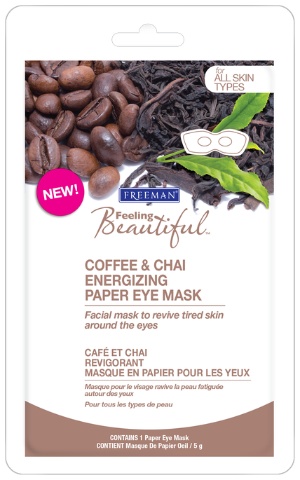 Freeman Beauty Feeling Beautiful Coffee & Chai Energizing Paper Eye Mask