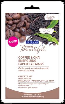 Freeman Beauty Feeling Beautiful Coffee & Chai Energizing Paper Eye Mask