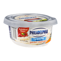Philadelphia Cream Cheese 1/3 Less Fat Garden Vegetable