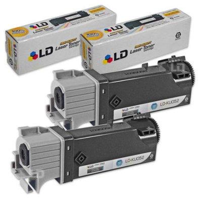 LD Compatible Dell KU052 (310-9058) Set of 2 High Yield Black Toner Cartridges for 1320/1320C Printers
