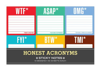Knock Knock - Sticky Note Packet: Honest Acronyms