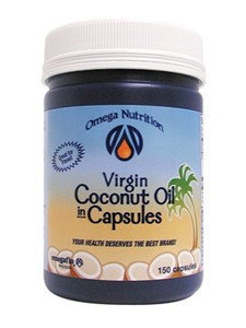 Omega Nutrition Virgin Coconut Oil In Capsules, 150 ct