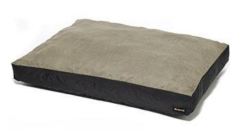Big Shrimpy Original Faux Suede Dog Bed, Small, Stone