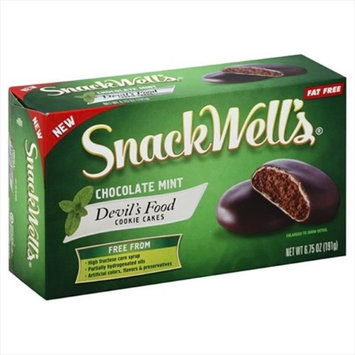 Snackwell's Snackwells 6.75 oz. Chocolate Mint Devils Food Cookie Cakes - Case Of 12