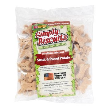K9 Granola Factory Simply Biscuits Steak Dog Treat Medium 1lb