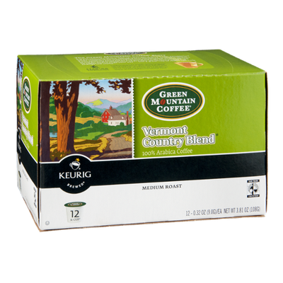 Green Mountain Coffee Keurig Vermont Country Blend  Medium Roast K-Cups - 12 CT