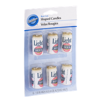Wilton Beer Can Shaped Candles - 6 CT