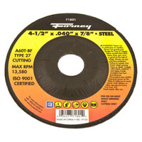 Forney 71801 Cut-Off Wheel with 7/8-Inch Arbor Metal Type 27 A60T-BF 4-1/2-Inch-by-0.040-Inch