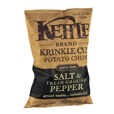 Kettle Krinkle Cut Salt & Fresh Ground Pepper Potato Chips