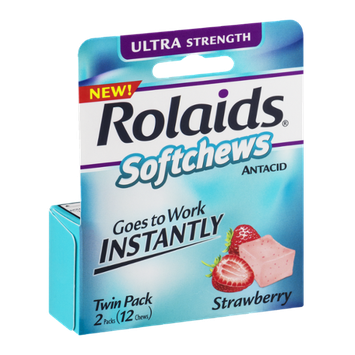 Rolaids Softchews Antacid Strawberry - 2 PK