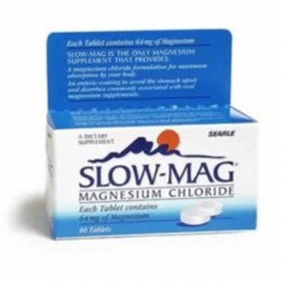 Slow-Mag Magnesium Chloride with Calcium, 60 Count