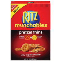 Nabisco Ritz Munchables Spicy Chipotle Cheddar Pretzel Thins, 12.25 oz