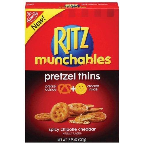 Nabisco Ritz Munchables Spicy Chipotle Cheddar Pretzel Thins, 12.25 oz