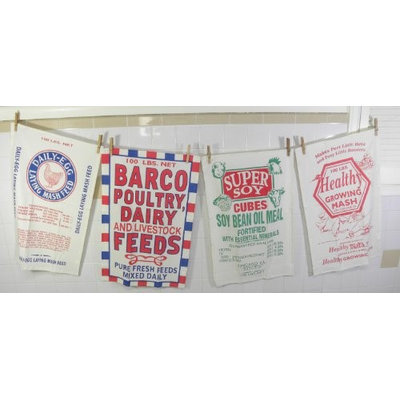 Creative Home Feed Sack Dish Towels By Moda Set of 4