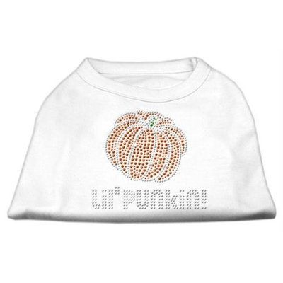 Mirage Pet Products 521303 XXXLWT Lil Punkin Rhinestone Shirts White XXXL 20