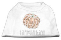 Mirage Pet Products 521303 XLWT Lil Punkin Rhinestone Shirts White XL 16
