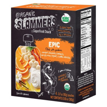 Baby Gourmet Foods Inc. Organic Slammers Superfood Snack Epic Fruit & Yogurt Filled Pouches 3.