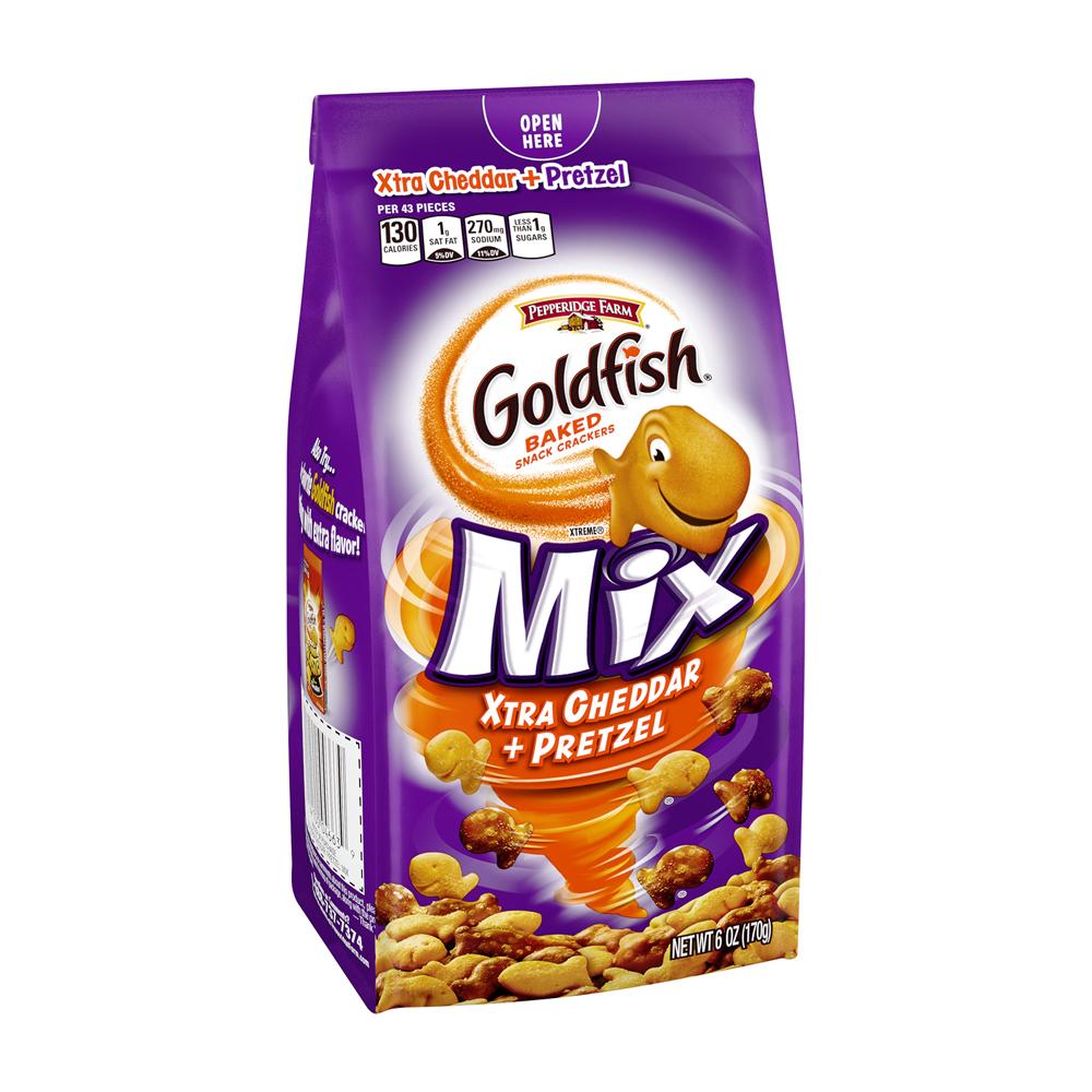 Pepperidge Farm® Goldfish® Mix Xtra Cheddar + Pretzel Baked Snack Crackers