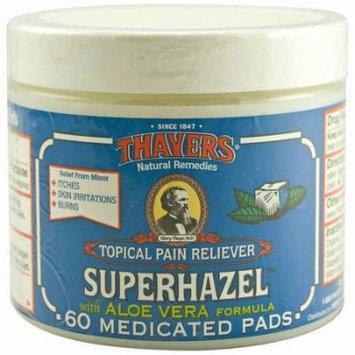 Thayers Super Hazel with Aloe Vera Formula Medicated Pads, 60 CT