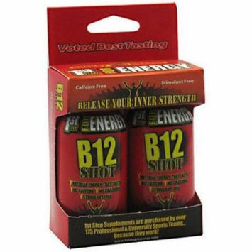 1st Step for Energy B12 Shot, Maximum Energy, Cherry Charge, 2 CT (Pack of 3)