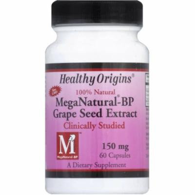 Healthy Origins Grape Seed Extract, Mega Natural-BP Capsules, 60 CT