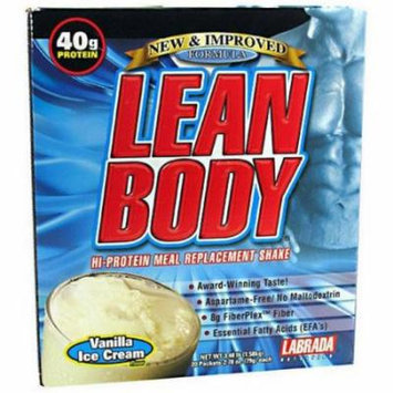 Labrada Nutrition Lean Body, Soft Vanilla Ice Cream, 20 CT