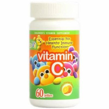 Yum V's Orange Vitamin C Jellies, 60 CT