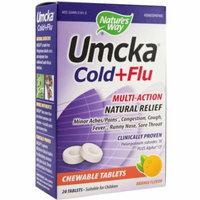 Nature's Way Umcka Cold + Flu Orange Chewable Tablets, 20 CT