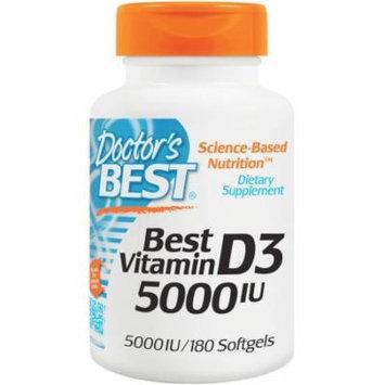 Doctor's Best Vitamin D3 5000 IU, 180 CT