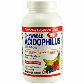 American Health Acidophilus Assorted Chewable, 100 CT