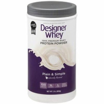 Designer Whey Protein Powder, Plain & Simple, 2 LB