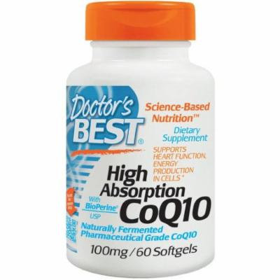 Doctor's Best High Absorption CoQ10 100mg, 60 CT