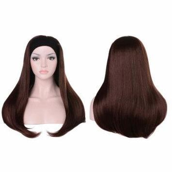 OneDor Mix Long 3/4 Women's Stragiht Hair Wig with Headband (33#-Dark Auburn)