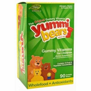 Yummi Bears Wholefood + Antioxidants, Organic Gummies, 90 CT
