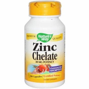 Nature's Way Zinc Chelate Capsules, 100 CT (Pack of 3)