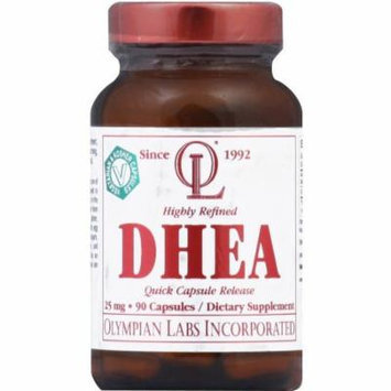 Olympian Labs DHEA, 25 mg, Quick Capsule Release, 90 CT