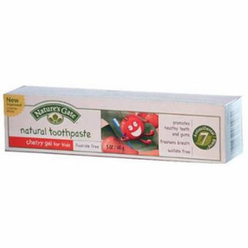 Nature's Gate Natural Toothpaste Gel For Kids Cherry, 5 OZ (Pack of 2)