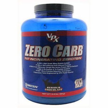 VPX Zero Carb Fat Incinerating Zerotein, Serious Chocolate, 4.4 LB