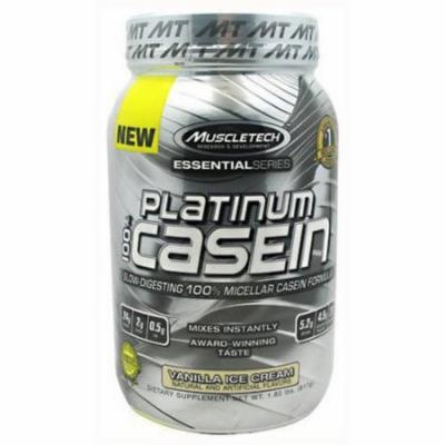 MuscleTech 100% Platinum Casein, Vanilla Ice Cream, 1.8 LB