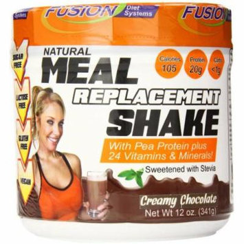 Fusion Diet Systems Natural Meal Relpacement Shake, Creamy Chocolate, 12 OZ