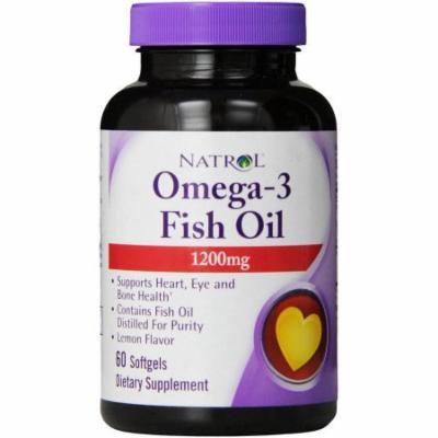 Natrol Omega-3 1 Fish Oil Softgels, 60 CT