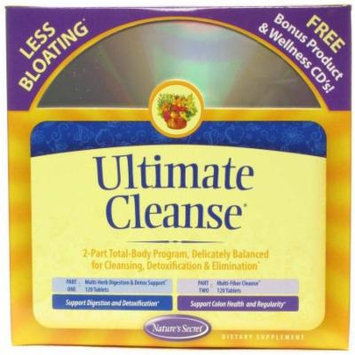 Nature's Secret Ultimate Cleanse Program to Support Detoxification & Cleansing Tablets, 240 CT