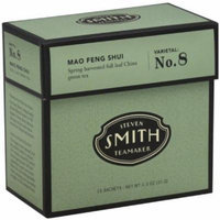 Smith Teamaker Green Tea, Mao Feng Shui, Sachets, 15 CT (Pack of 6)
